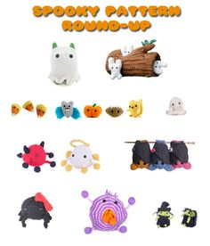 Round-up of spooky knitting patterns from Mochimochi!