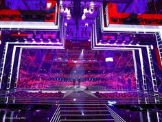 A high-performance stage for a #spectacular #show: The #stage of the #ESC 2016. The interplay of light and the LED walls produced visual illusions. #originalplexiglas #plexiglas #evonikplexiglas #acrylic