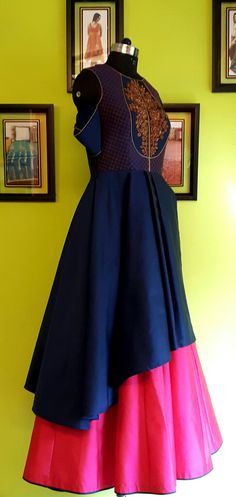 MOHHO by A&N . .  Double Layered Gown, enhanced with Jardozi . . #EVENINGwear #OCCASIONALpartyWEAR