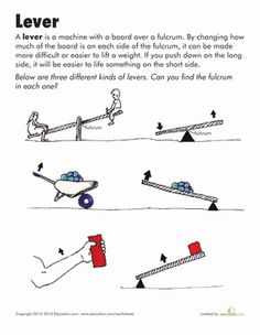 Second Grade Physical Science Worksheets: Simple Machines: Lever