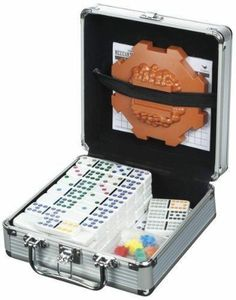 Cardinal Industries Mexican Train Domino Game in an Aluminum Case/mycrazy8s