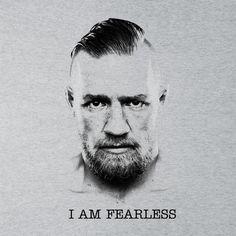 cdf1990118deb0 Conor McGregor Black And White I Am Fearless. Cloud CityConor ...