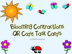 This product contains 24 task cards on which students need to read the sentences and record the contractions for the underlined words.  Students can then scan the QR codes to determine if they have the right answers.  An answer key and recording sheet are included.