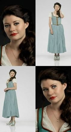 """ABC's """"Once Upon a Time"""" stars Emilie de Ravin as Belle."""