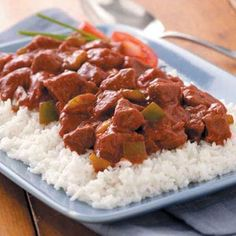 Pepper Beef Goulash Recipe - everyone in the family loved this, including my son who isn't a big fan of beef.  I served it over egg noodles instead of rice, but may try rice next time.