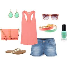 SUMMER, created by melissa-tuttle on Polyvore.... My colors :)