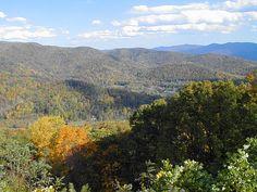 Blue Ridge Mountains near Ashville, North Carolina. ~~ 10/23/99