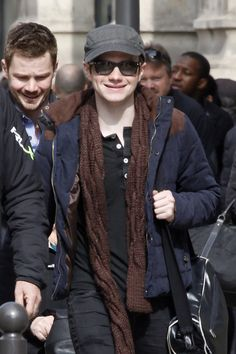 Actor and star of 'Glee' Chris Colfer visits Notre Dame and the Eiffel Tower while sightseeing with his family and boyfriend, Will Sherrod in Paris. March 22 2015