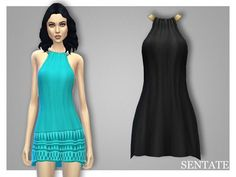 The Sims Resource: Bijou Dress by Sentate • Sims 4 Downloads