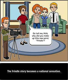 Frindle - Plot Diagram: Create a Plot Diagram for a Frindle summary by depicting two main events that occurred in the beginning, middle, and end of this entertaining story!
