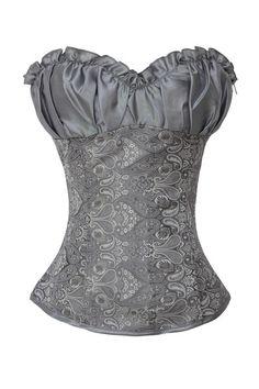 | Grey Renaissance Style Corset