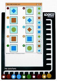 Rámik Logico Piccolo - univerzálny plastový rámik pre všetky tituly vzdelávacieho systému. Rámik s 10 farebnými gombíkmi. Games, Gaming, Plays, Game, Toys