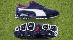 PUMA TitanTour golf shoes (U.S. Open edition) |  Dad won't tee it up in the U.S. Open, but at least he can wear the shoes Rickie Fowler will be sporting at Chambers Bay. Fowler's limited edition, U.S. Open-inspired Puma TitanTour shoes come in a red, white and blue colorway and feature Puma's temperature-regulating outlast that was developed for NASA to regulate temperature in spacesuits. The outlast is positioned in the sockliner top cloth and helps manage heat. (Price: $190)