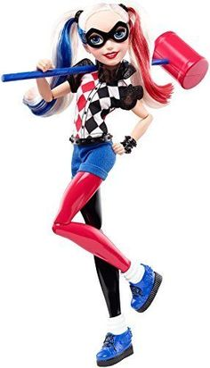 DC-Super-Hero-Girls-Harley-Quinn-12-034-Action-Doll