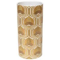 1970s Porcelain Cylinder Vase by Bjorn Wiinblad for Rosenthal