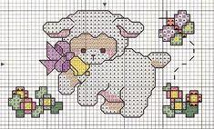 Raquel ponto de cruz: Agradecimentos e gráficos ovelhas