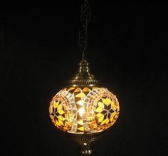 moroccan lantern glass light electrical lamp by meryemart on Etsy