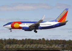 """i had no idea this exists- what a beaut. Southwest """"Colorado""""Boeing 737-7H4"""
