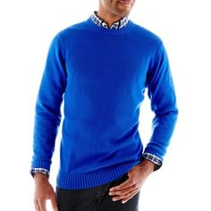 St. John's Bay® Midweight Crewneck Sweater - JCPenney