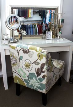 Convert an IKEA dressing table into a makeup vanity - makes getting ready so much better!