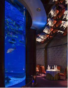 Al Mahara Restaurant at Burj Al Arab Hotel, Dubai, interior design by Khuan Chew of KCA International