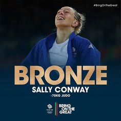 A BRILLIANT #BRONZE  for @sconway70! What an amazing day or Sally! Congrats! #BringOnTheGreat #Judo  #Rio2016