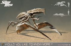 StarShip Troopers ambusher, Alexander Forssberg on ArtStation at http://www.artstation.com/artwork/starship-troopers-ambusher