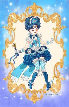 Rococo Sailor Moon Sailor Mercury Costume / Cosplay Redesign by Aimee Steinberger aimeemajor.com