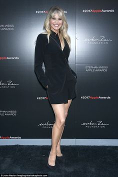 Hey good looking!Christie Brinkley proudly showed off her physique as she attended the Stephan Weiss Apple Awards in New York City on Wednesday