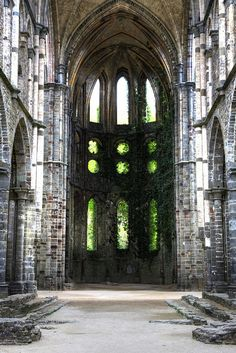 Villers Abbey church ruins, Villers-la-Ville in the Walloon Brabant province of Wallonia (Belgium) - 1146