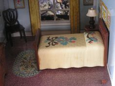 Dollhouse Miniature Vintage Renwal Twin Bed by DollhouseLuvForever