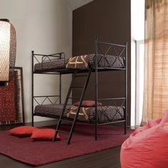 Metropolis Bunk Bed by Cosatto This bed comes also as a single bed. Its design is very simple and elegant at the same time, and the wrought iron frame makes it very resistant and durable. It's stylish and on trend.