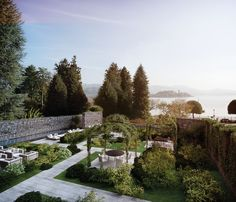 casaFantini/lake time consists of two #lakefront buildings, an historic one and a new one, harmoniously integrated into the surrounding countryside by the architectural #design. #fantini #fratellifantini