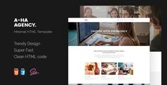 A-ha Agency | Minimal HTML5 Template . A-ha has features such as High Resolution: Yes, Compatible Browsers: IE9, IE10, IE11, Firefox, Safari, Opera, Chrome, Edge, Compatible With: Bootstrap 3.x, Columns: 4+