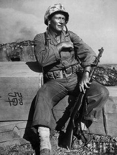 """Sands Of Iwo Jima"" - Actor John Wayne as Marine."