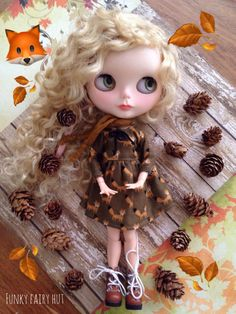 Your place to buy and sell all things handmade Pretty Dolls, Cute Dolls, Beautiful Dolls, Fall Scarves, Doll Repaint, Little Doll, Big Eyes, Winter Collection, Blythe Dolls
