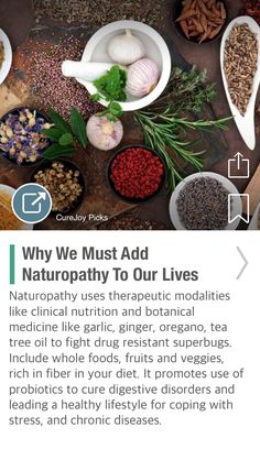 Why We Must Add Naturopathy To Our Lives - via @CureJoy