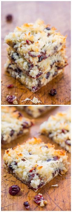 Cranberry Bliss Seven Layer Bars Recipe