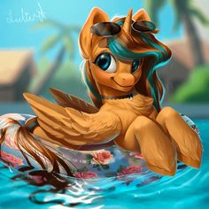 OC in pool by LuleMT