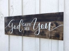 Woodworking Projects 2019 God Gave Me You Sign Farmhouse Decor Wood Signs Pallet Sign Farmhouse Pallet Signs Wedding Gift The post Woodworking Projects 2019 appeared first on Pallet ideas. Pallet Crafts, Diy Pallet Projects, Wood Crafts, Woodworking Projects, Pallet Ideas, Wood Ideas, Woodworking Furniture, Pallet Furniture, Woodworking Shop