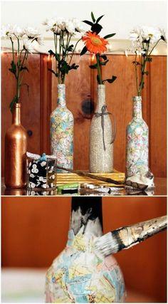 Nach Weihnachten alle leeren Flaschen wegwerfen? Nein, zu schade …, aufbewahren! 10 tolle Bastelideen aus Glasflaschen! - DIY Bastelideen