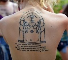 The Lord of the Rings tattoo