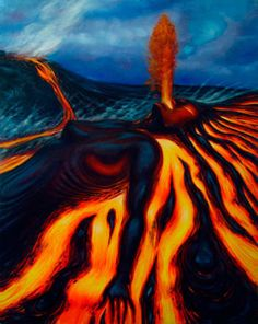 """Pele is the Goddess of Fire and Volcanoes of the Hawaiian people. She is """"She… Hawaiian Mythology, Hawaiian Goddess, Hawaiian Legends, Hawaiian Art, Hawaiian People, Aphrodite Aesthetic, Polynesian Art, Cool Sketches, Black Women Art"""