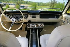 classic ford mustang interior