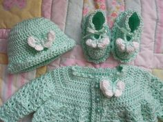 Crochet Baby Sweater Green Baby Sweater by TillieLuvsTreasures