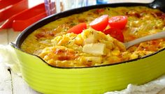 Corn and Asparagus Bake for the Braai Ingredients: 460 g Asparagus Cuts drained 410 g Cream Style Sweetcorn 2 Eggs 125 g Cheddar Cheese g. All Vegetables, Veggies, South African Recipes, Ethnic Recipes, Braai Recipes, Spice Combinations, Baked Asparagus, Vegetable Dishes, Macaroni And Cheese