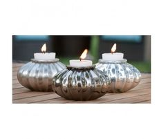 Candle Holders! Perfect for outdoor patio table.