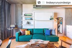 Resource Furniture offers quality transforming furniture to make your home functional. Compact wall beds, tables, and more. Plaid Couch, Resource Furniture, Green Play, Transforming Furniture, Bed Wall, Space Saving Furniture, Studio City, Murphy Bed, Emerald City