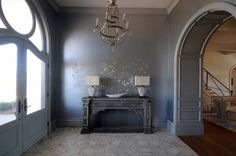 Residence in Alexandria, Louisiana  French inspired interior design by New Orleans interior designer Stacey Serro www.p-l-a-i-d.com