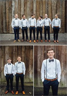 Wedding Groomsmen suits should be paid as much attention as bridesmaid dresses! We mean, they are your best friends, your brothers, the men that will see you get married even if you get cold feet! We have covered wedding attire groom related, but your groomsmen need their very own unique wedding tuxedos or suits or outfits that will make everyone know that those are the great men who will stand by your side while you go through the best day in your life and all those days to come! Rustic Wedding Groomsmen, Wedding Men, Wedding Suits, Dream Wedding, Gothic Wedding, Wedding Rustic, Guys Wedding Attire, Rustic Groomsmen Attire, Wedding Tuxedos